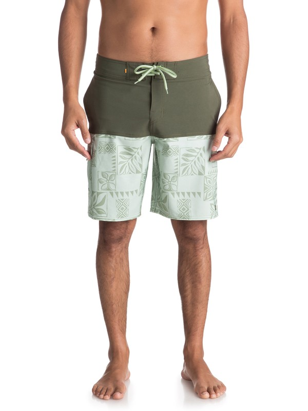 "0 Waterman Malama Bay 18"" - Board Shorts Green EQMBS03035 Quiksilver"