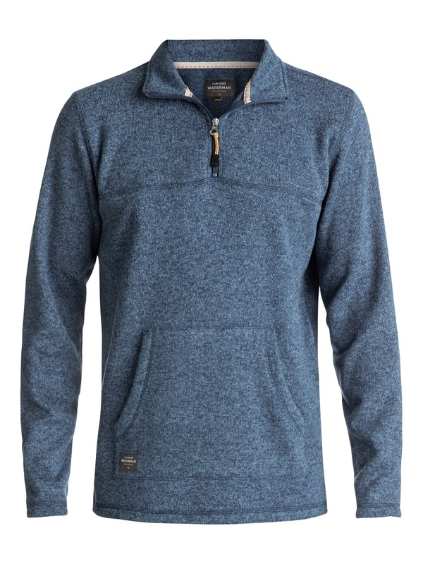 0 Waterman Mormont 3/4 Zip Sweatshirt Blue EQMFT03003 Quiksilver