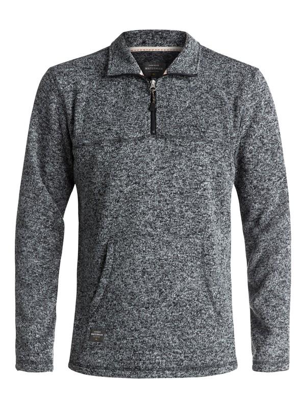 0 Waterman Mormont 3/4 Zip Sweatshirt Black EQMFT03003 Quiksilver