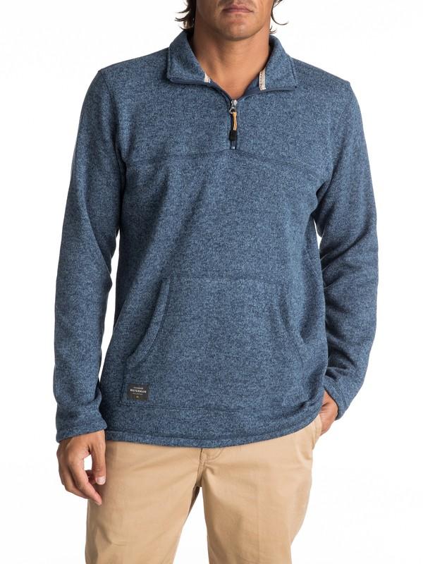 0 Waterman Mormont 3/4 Zip Sweatshirt Blue EQMFT03003 Quiksilver