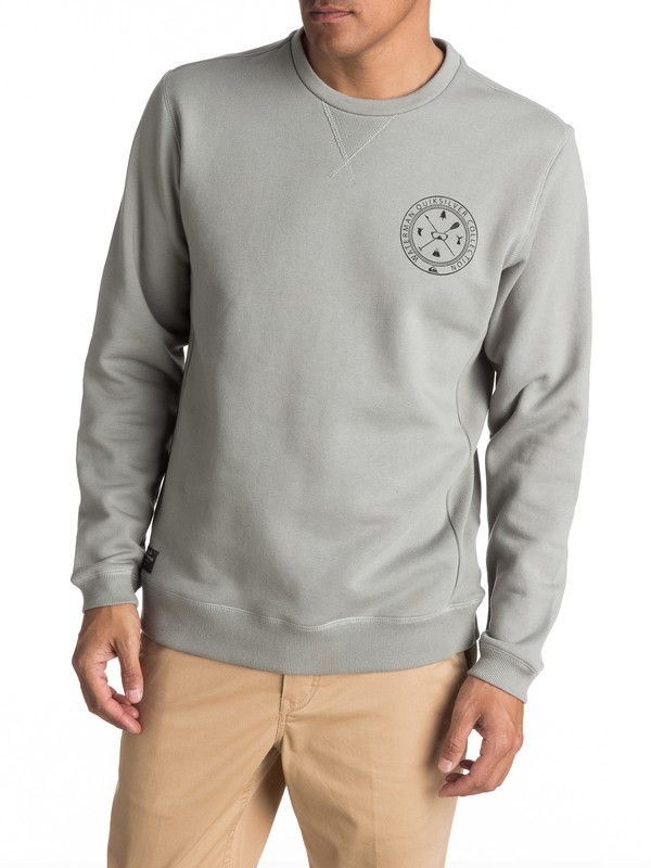 0 Waterman Pop The Bell Sweatshirt Grey EQMFT03005 Quiksilver