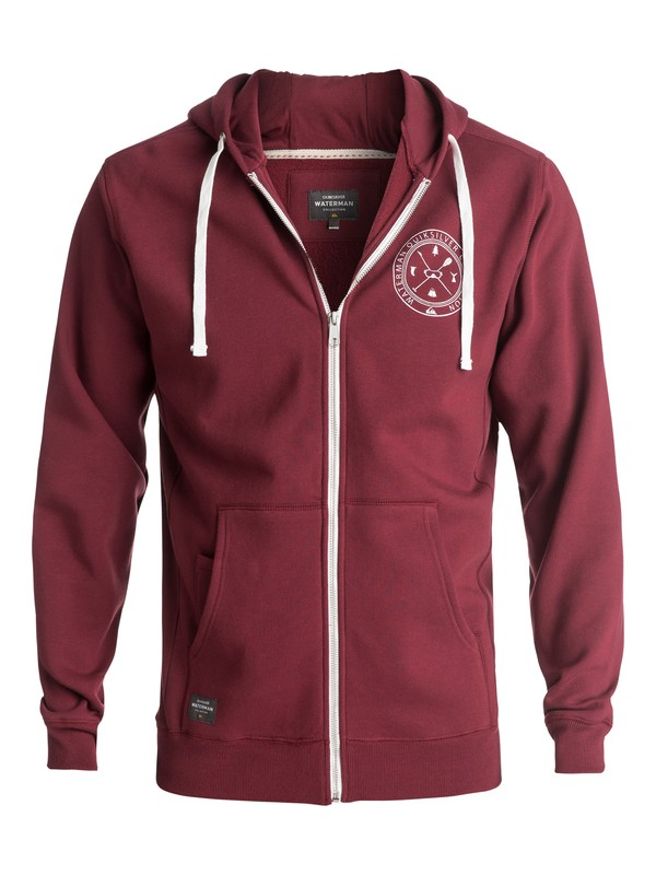 0 Waterman Ring The Bell Zip-Up Hoodie Red EQMFT03008 Quiksilver