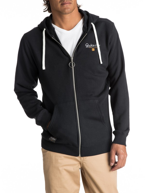 0 Waterman Ring The Bell Zip-Up Hoodie Black EQMFT03008 Quiksilver