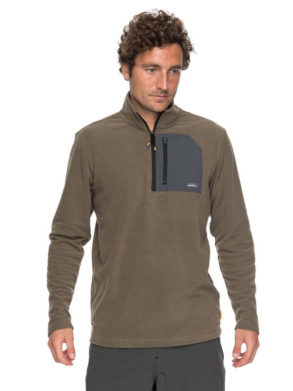 0 Waterman Boat Trip - Polaire technique 1/4 zip Marron EQMFT03014 Quiksilver