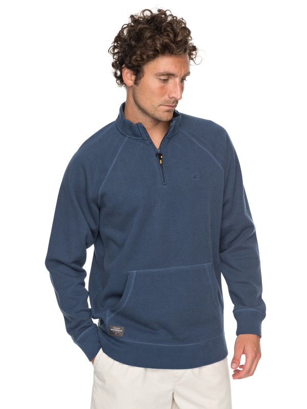 0 Waterman Great Wave - Sweatshirt 1/2 zip Bleu EQMFT03018 Quiksilver