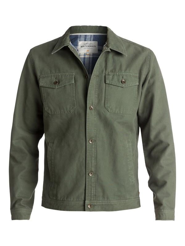 0 Waterman Tradie Button-Up Coat Green EQMJK03003 Quiksilver