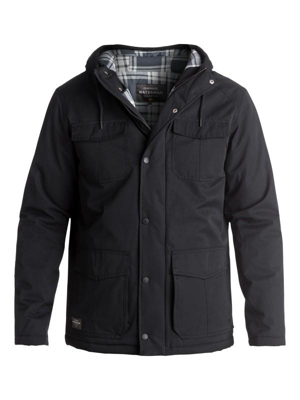 0 Waterman Weather Waterproof Hooded Jacket Black EQMJK03005 Quiksilver