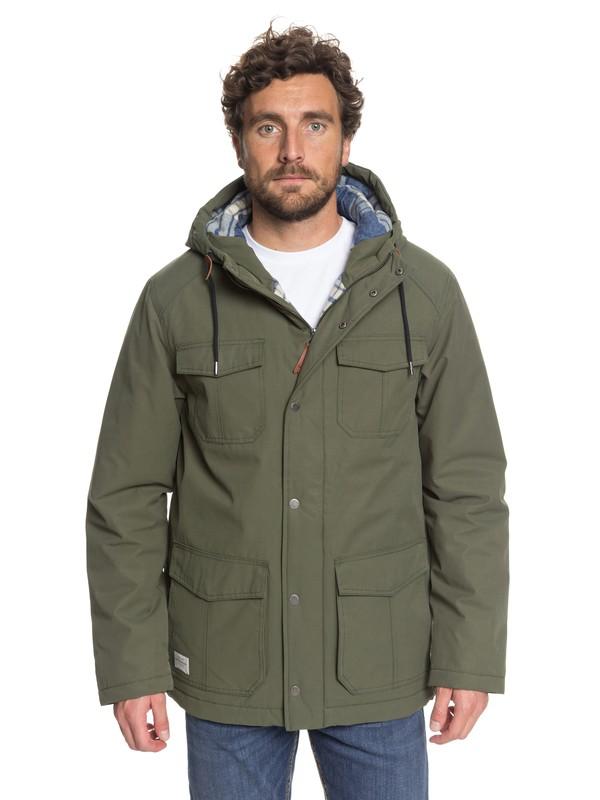 0 Waterman Weather - Manteau imperméable à capuche Vert EQMJK03005 Quiksilver