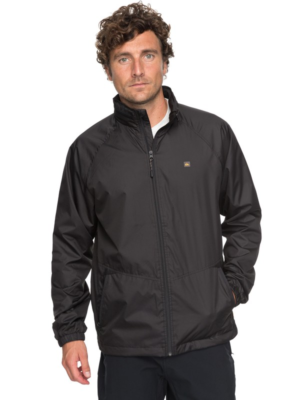 0 Waterman Shell Shock 3 Technical Windbreaker Black EQMJK03011 Quiksilver