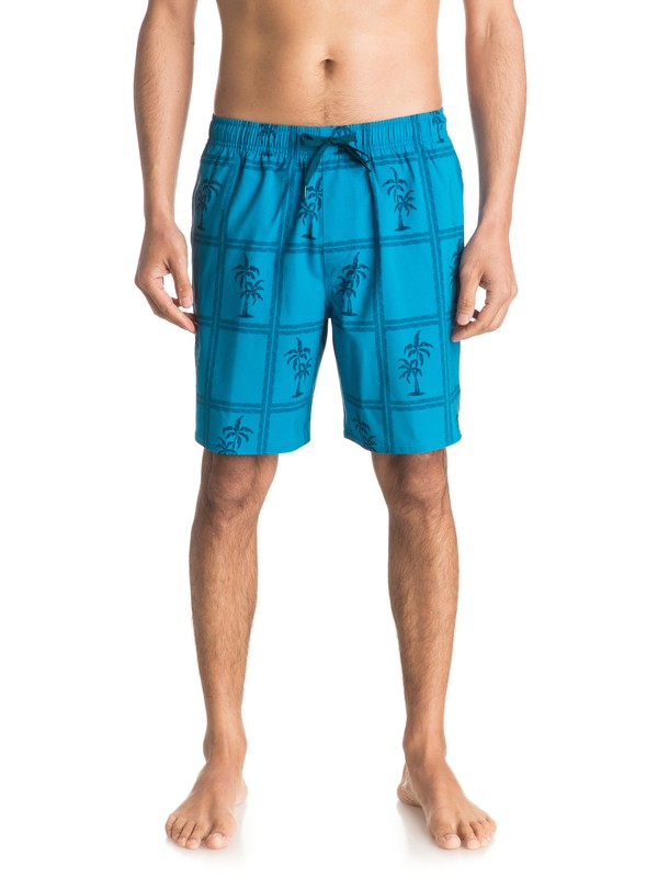 "0 Waterman Marineland Palms 18"" Volley Boardshorts  EQMJV03004 Quiksilver"