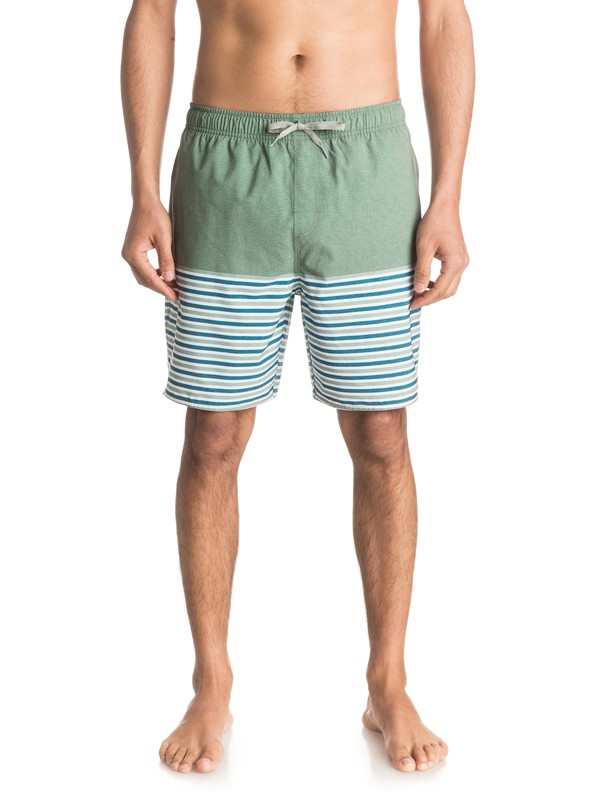 "0 Waterman Breezy Stripe 18"" Volley Boardshorts  EQMJV03005 Quiksilver"