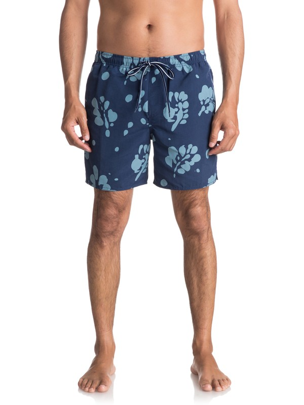 "0 Waterman Los Palmas 17"" Volley Boardshorts Blue EQMJV03023 Quiksilver"