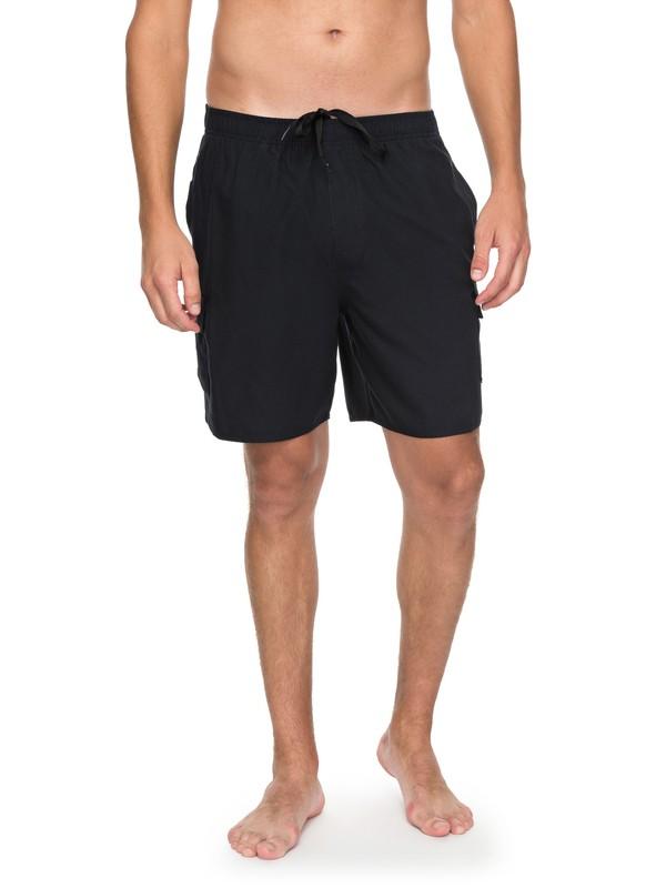 0 Waterman Balance Volley Boardshorts Black EQMJV03031 Quiksilver