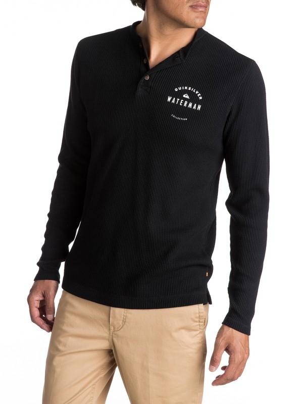0 Waterman Thermal Creeks - T-shirt thermique à col boutonné et manches longues Noir EQMKT03011 Quiksilver