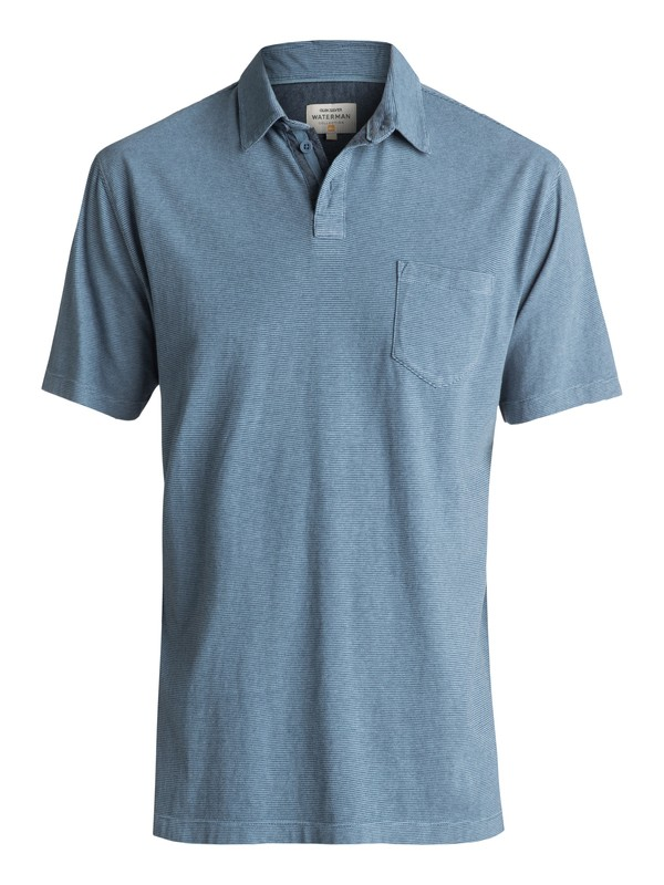 0 Waterman Strolo Polo Shirt Blue EQMKT03015 Quiksilver