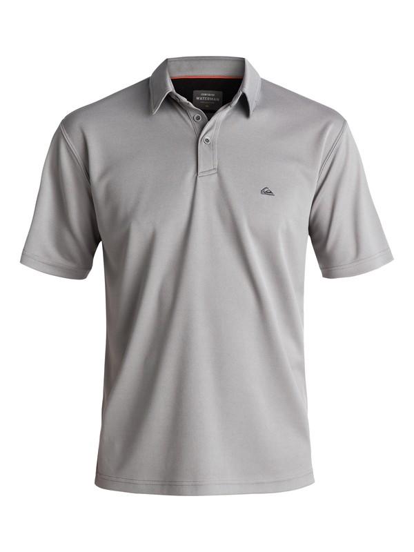 0 Waterman Water Polo Shirt Grey EQMKT03016 Quiksilver