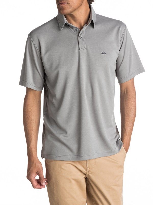 0 Waterman Water Polo Shirt Grey EQMKT03016 Quiksilver