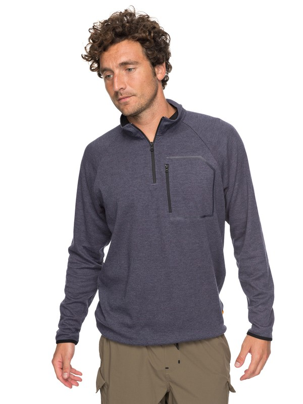 0 Waterman Quiksilver - Sweatshirt technique demi-zip Bleu EQMKT03024 Quiksilver