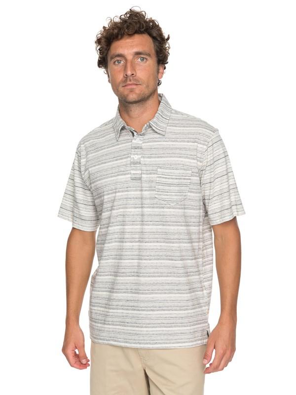 0 Waterman Sand Dollar Polo Shirt Black EQMKT03025 Quiksilver