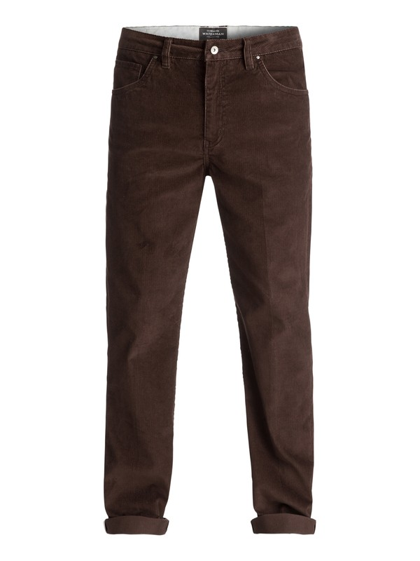 0 Waterman Corded Surf Corduroy Trousers Brown EQMNP03002 Quiksilver