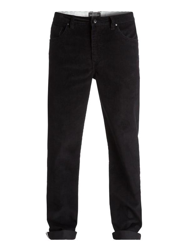 0 Waterman Corded Surf Corduroy Trousers Black EQMNP03002 Quiksilver