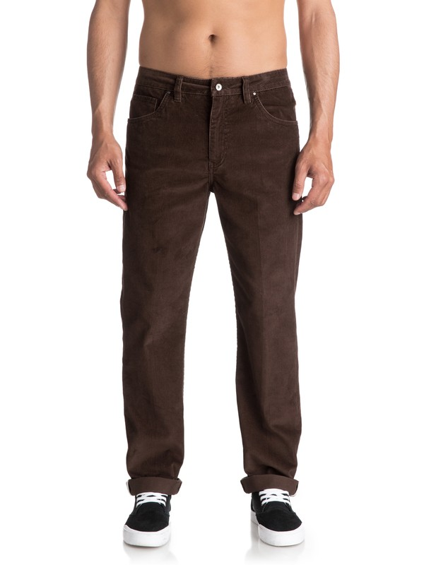 0 Waterman Corded Surf - Pantalon en velours Marron EQMNP03002 Quiksilver