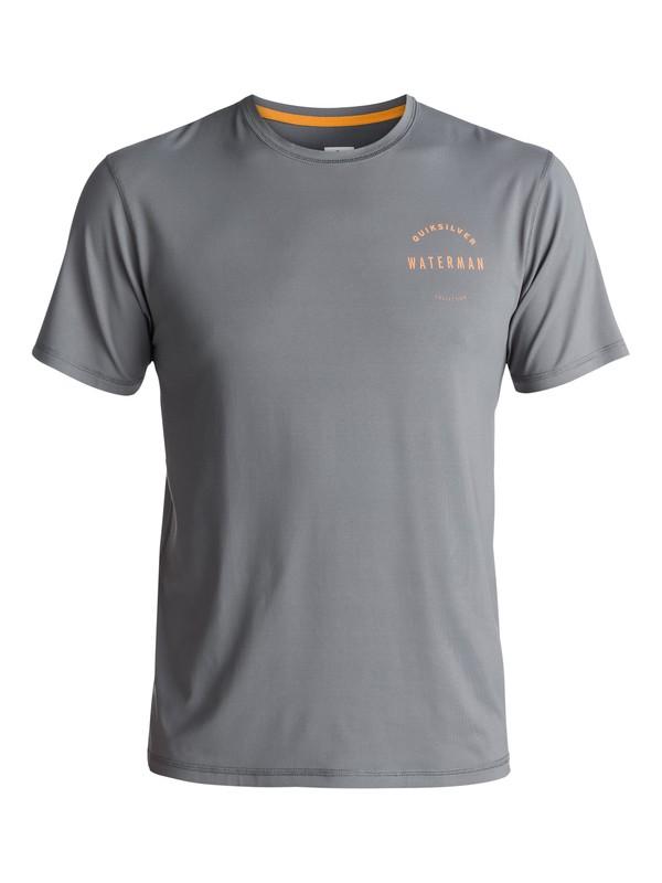 0 Waterman Mullaway - Rash Vest met korte mouwen UV-bescherming Black EQMWR03017 Quiksilver