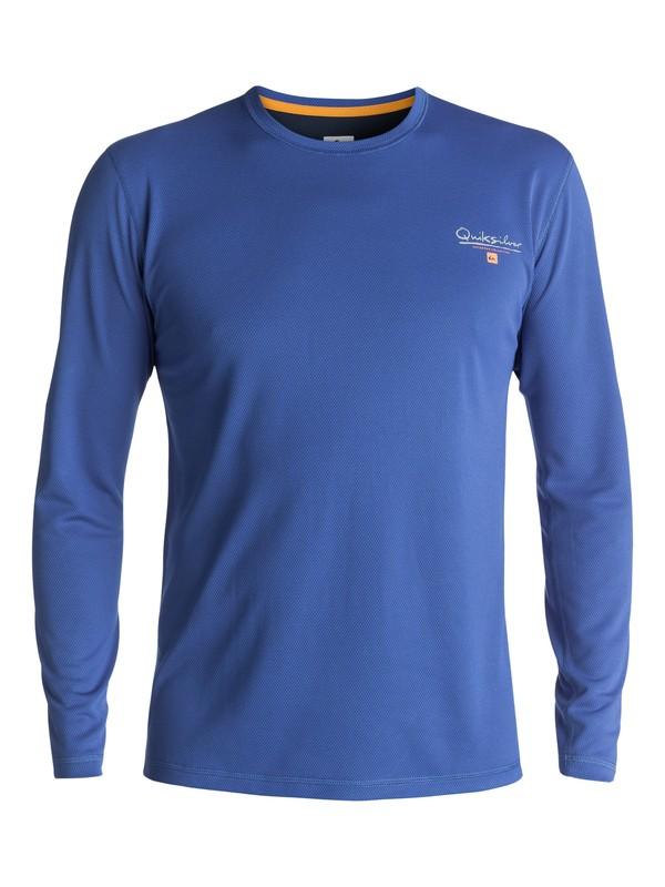 0 Waterman Gut Check Long Sleeve Rashguard Blue EQMWR03019 Quiksilver