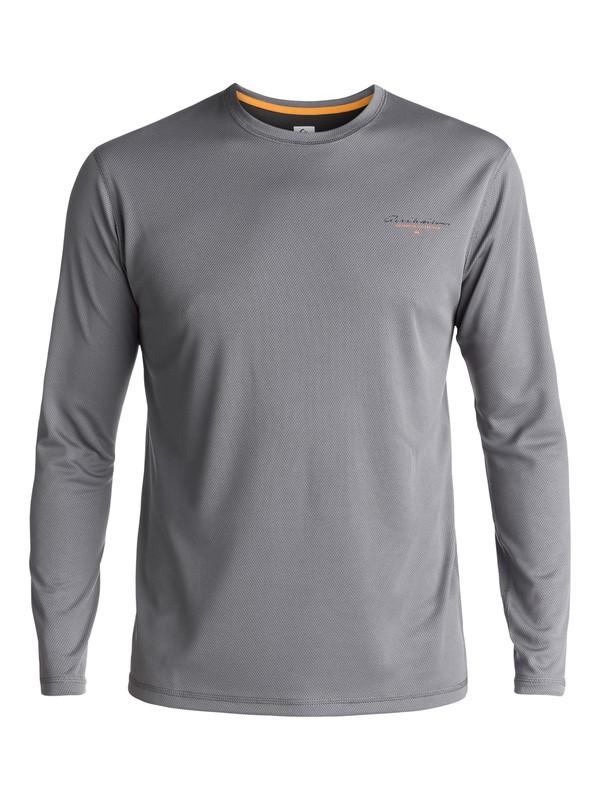 0 Waterman Gut Check - Rash Vest met lange mouwen UV-bescherming Black EQMWR03019 Quiksilver
