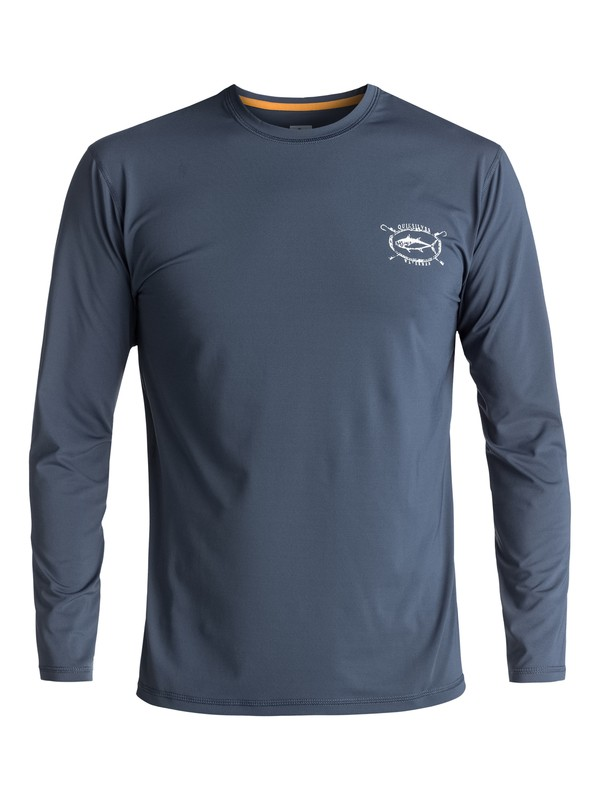0 Waterman Chill - Surf-Tee Amphibian UPF50 manches longues Bleu EQMWR03021 Quiksilver