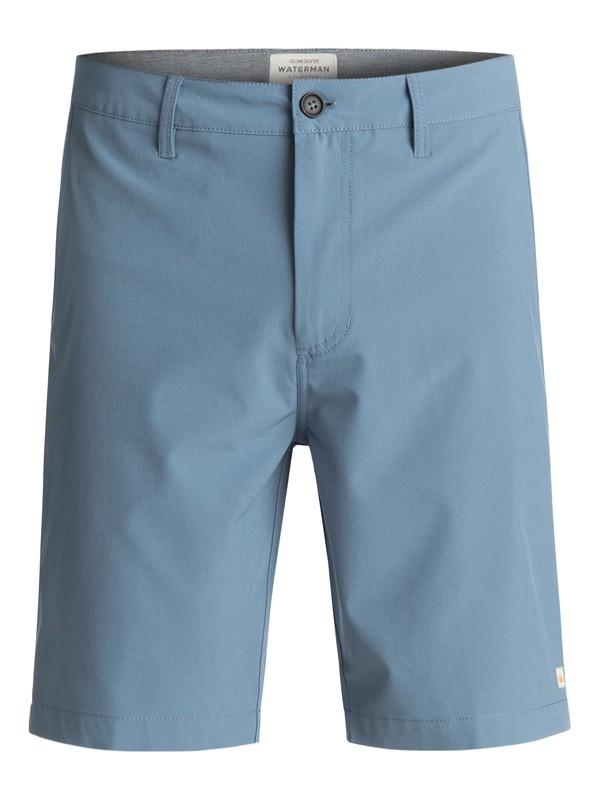 "0 Waterman Vagabond 20"" Amphibian Shorts Blue EQMWS03011 Quiksilver"