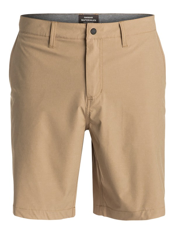 "0 Waterman Vagabond 20"" Amphibian Shorts Brown EQMWS03011 Quiksilver"
