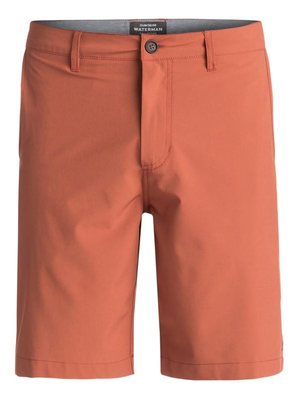 "0 Waterman Vagabond 20"" Amphibian Shorts Brown EQMWS03011 Quiksilver"