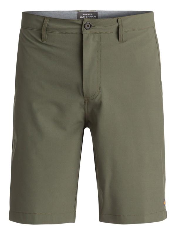 "0 Waterman Vagabond 20"" Amphibian Shorts Green EQMWS03011 Quiksilver"