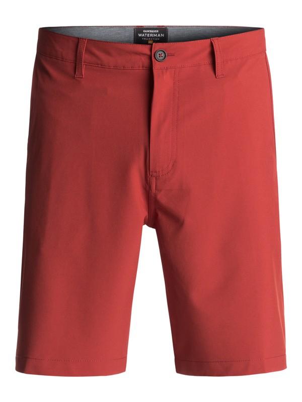 "0 Waterman Vagabond 20"" Amphibian Shorts Red EQMWS03011 Quiksilver"