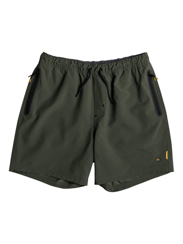 """0 Waterman Tech 17"""" Technical Shorts Green EQMWS03038 Quiksilver"""