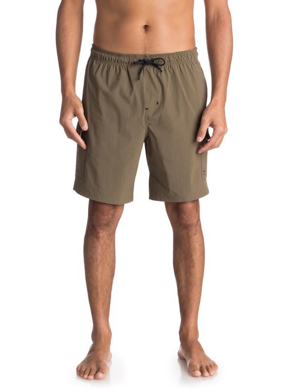 "0 Waterman Explorer 19"" Technical Shorts Brown EQMWS03041 Quiksilver"