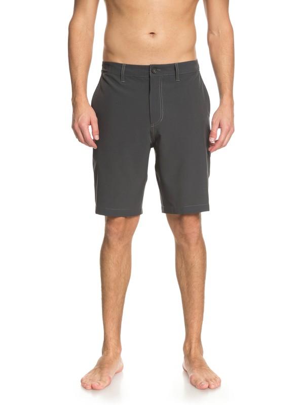 "0 Waterman Vagabond 20"" Amphibian Shorts Black EQMWS03050 Quiksilver"