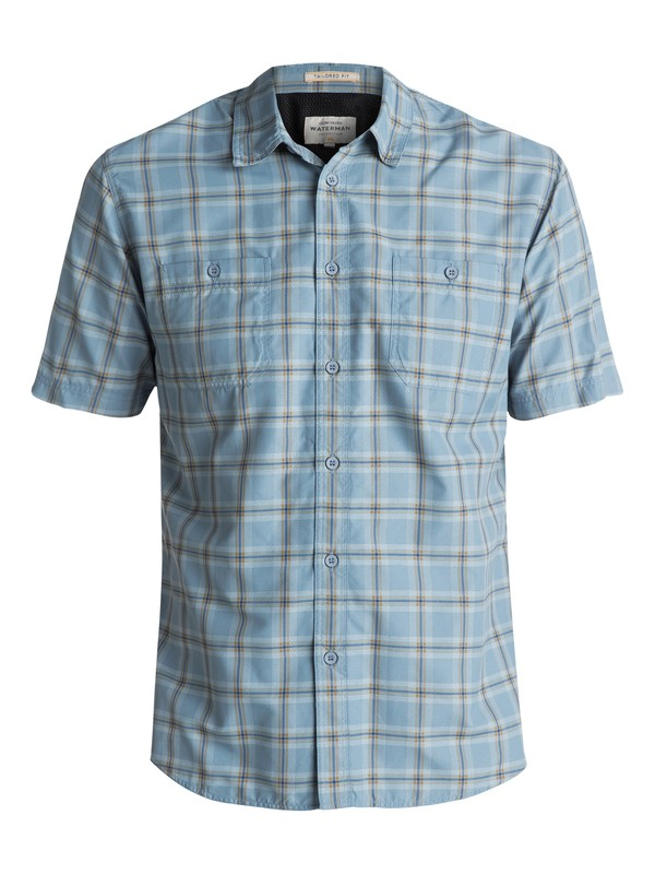 0 Waterman Wake Short Sleeve Shirt Blue EQMWT03007 Quiksilver