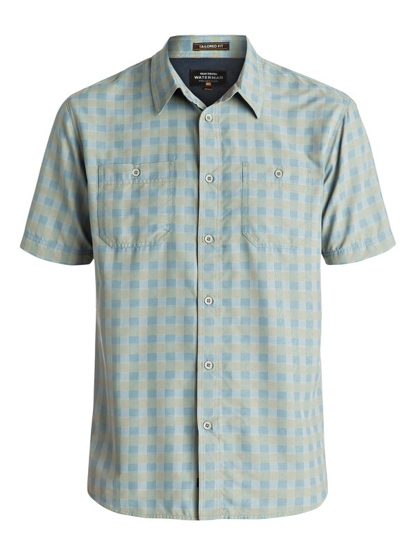 0 Waterman Wake - Chemise à manches courtes Vert EQMWT03007 Quiksilver