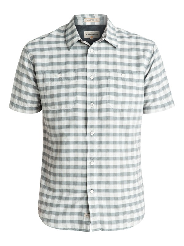 0 Waterman Wake Short Sleeve Shirt Grey EQMWT03007 Quiksilver