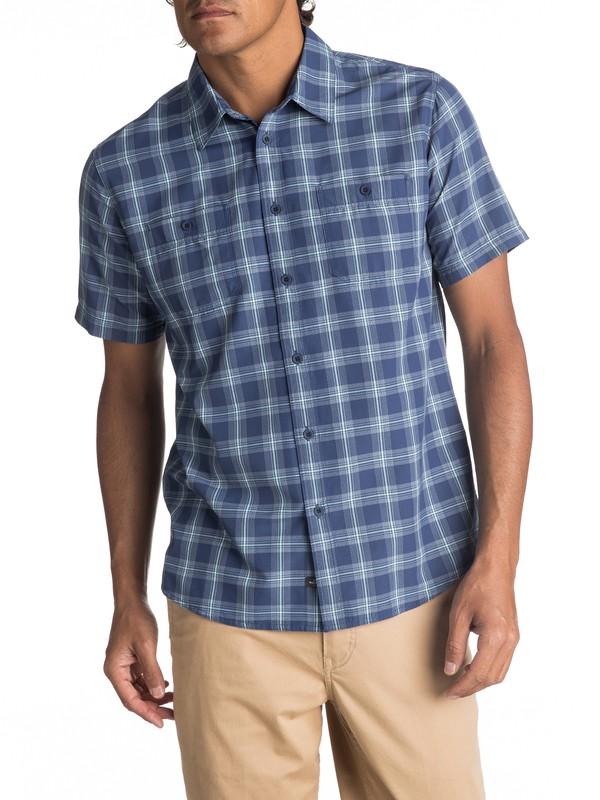 0 Waterman Wake Short Sleeve Shirt Blue EQMWT03007 Quiksilver