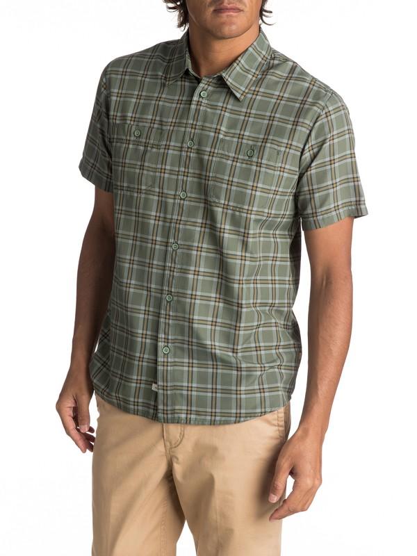 0 Waterman Wake Short Sleeve Shirt Green EQMWT03007 Quiksilver