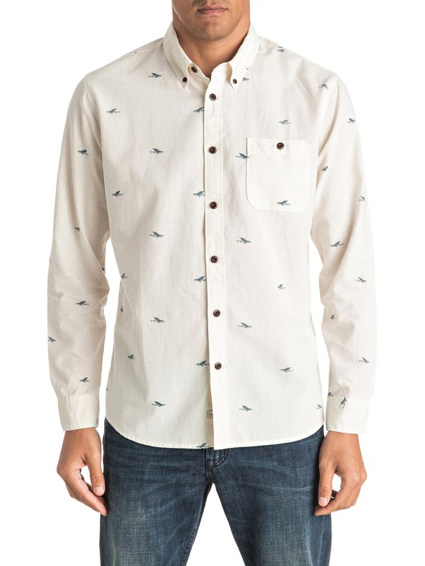 0 Waterman Post Surf Long Sleeve Shirt  EQMWT03013 Quiksilver