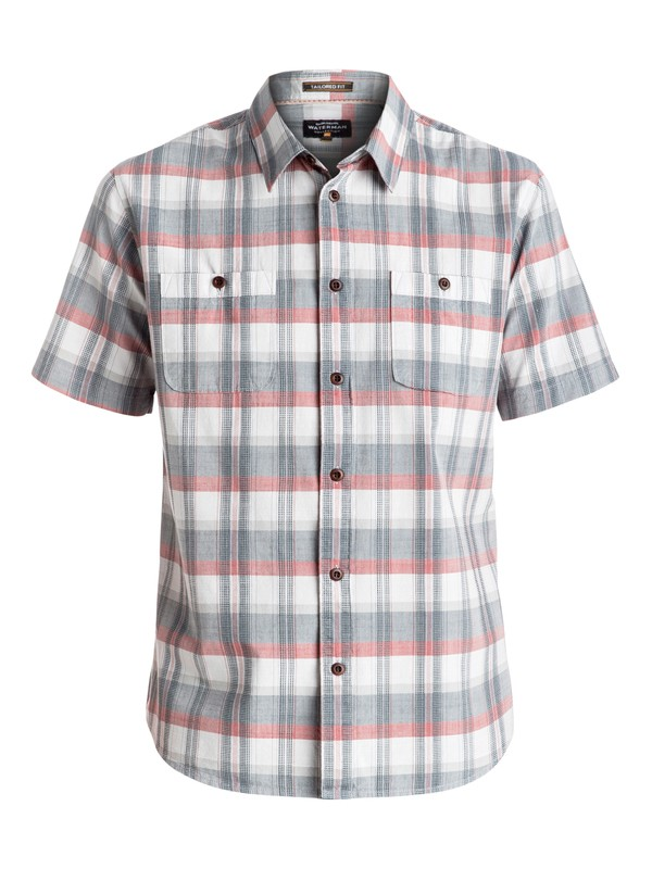 0 Waterman Ample Time Short Sleeve Shirt Grey EQMWT03025 Quiksilver
