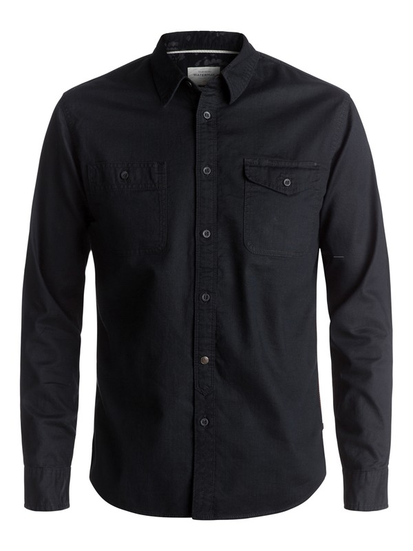 0 Waterman Tarno Long Sleeve Shirt Black EQMWT03048 Quiksilver