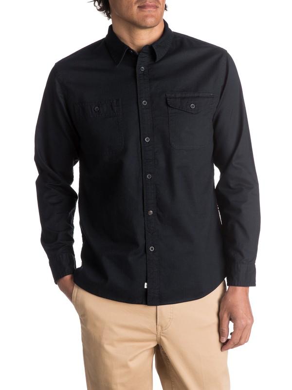 0 Waterman Tarno Long Sleeve Shirt Black EQMWT03048 Quiksilver