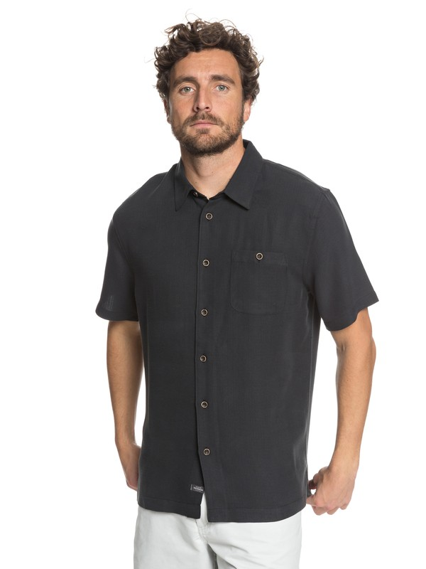 0 Waterman Avalon Short Sleeve Shirt Black EQMWT03051 Quiksilver