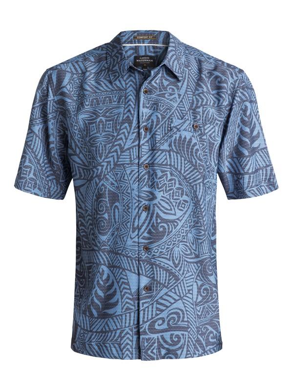 0 Waterman Tribal Dance Short Sleeve Shirt Blue EQMWT03055 Quiksilver
