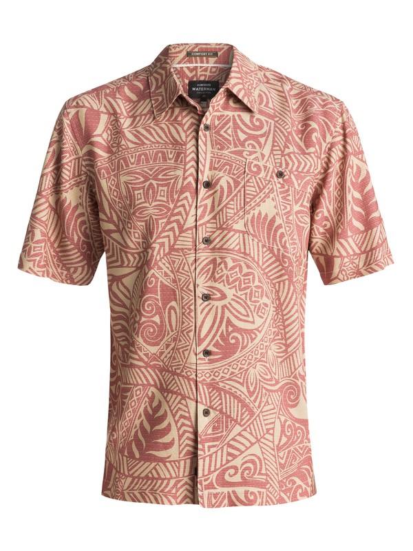 0 Waterman Tribal Dance Short Sleeve Shirt Brown EQMWT03055 Quiksilver